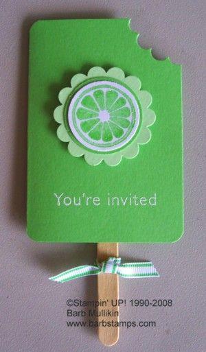 Erfrischende Einladung mit Stampin' Up!