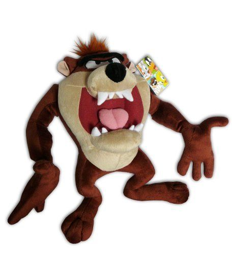 Taz 8 Plush Soft Toy Doll Tasmanian Devil Looney Tunes Warner TazMania Cartoon ** To view further for this item, visit the image link.