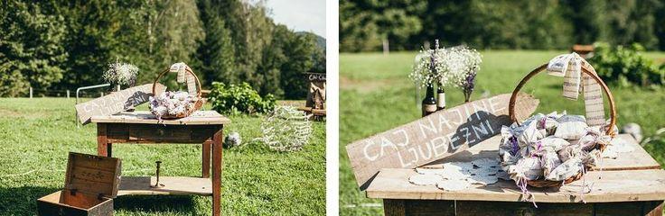 www.kredenca.si | foto: Alen Karupovič photography | rustic poroka v naravi, pod zvezdami | rustic wedding under the stars | white green brown rustic wedding