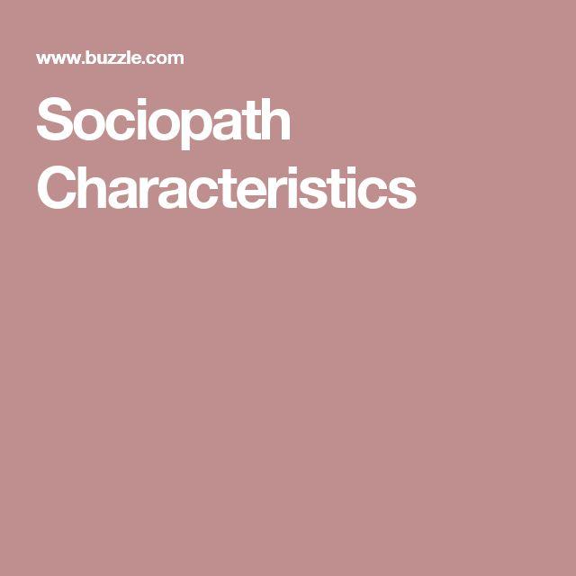 Sociopath Characteristics