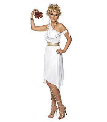 Griekse godin jurk in de kleur wit. De witte Griekse godinnen jurk is inclusief de gouden riem. Griekse accessoires kunt u ook bij ons bestellen. Carnavalskleding 2015 #carnaval