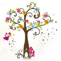 Fairy Tree decal. Wall stickers are available at www.kidzdecor.co.za. Free postage throughout South Africa