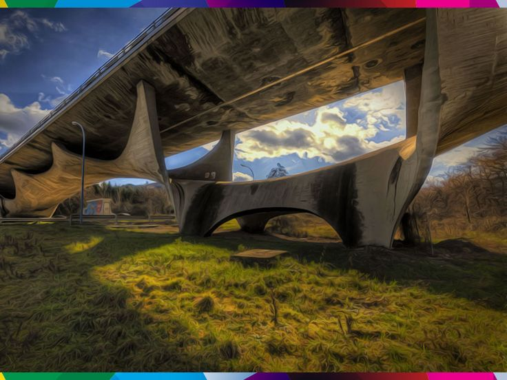 This bridge known as Basento Bridge or Musmeci Bridge cross the river Basento near Potenza. Designed by the Italian Sergio Musmeci since 1967, was built between 1971 and 1976, realizing the theories on minimum structural design. #raiexpo #italia2015 #expo2015 #potenza #italy #basilicata #sergiomusmeci #architecture #bridge #engineering #basento