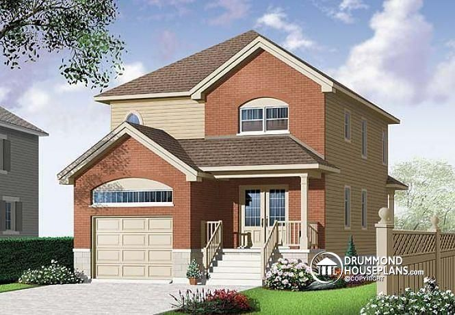 W3876 v1 european style 2 storey 3 bedroom with for How to build a mezzanine floor in a garage