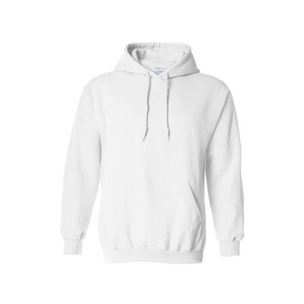 Hooded Plain White Sweatshirt Men Women Pullover Hoodie Fleece Cotton... ❤ liked on Polyvore featuring mens, men's clothing and men's hoodies