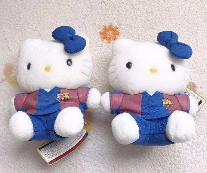 Hello Kitty Stuffed FC Barcelona set Plush Doll Spain Football Team Sanrio JP