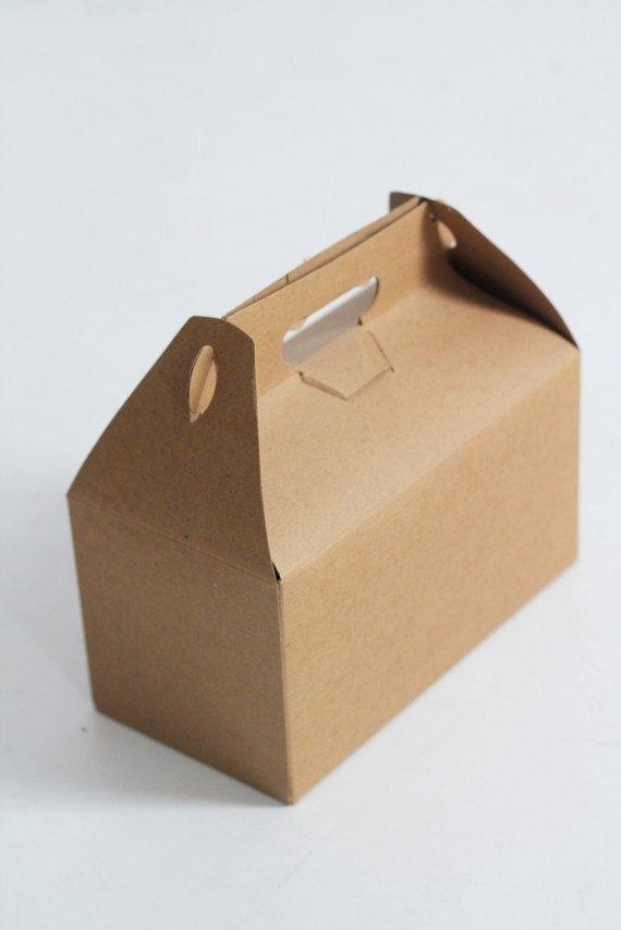 9 X 9 X 6 Kraft Natural Gable Gift Box Lot Of 8 Etsy Gifts White Gift Boxes Gift Box