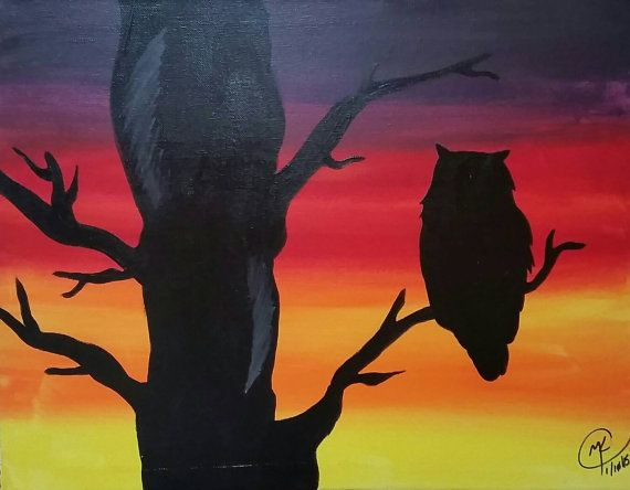 Owl Silhouette by GetInspiredCustoms on Etsy