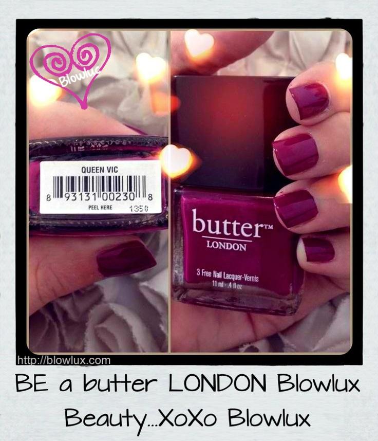 Dark Deep Maroon butter LONDON Nail Polish