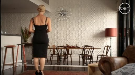 Pressed Tin Panels - Nina's apartment from 'Offspring' - Channel 10
