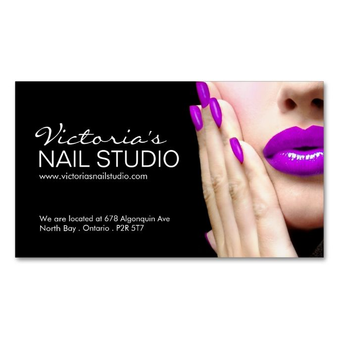 Nail Technician Business Card Template Cards Pinterest Nails And
