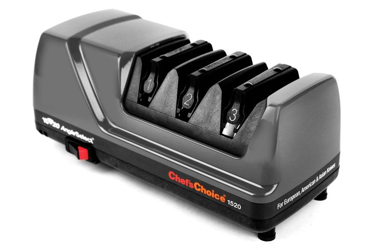 Chef's Choice 1520 AngleSelect Diamond Hone Electric Knife Sharpener (Grey)