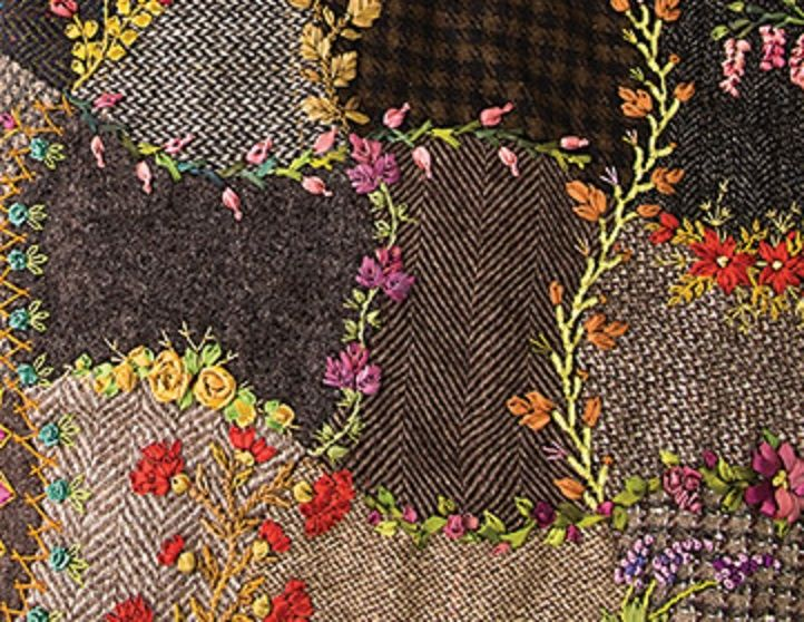 Foolproof Crazy Quilt Project - Upcycled Wool Bag (Part 1) - Sew, What's New?