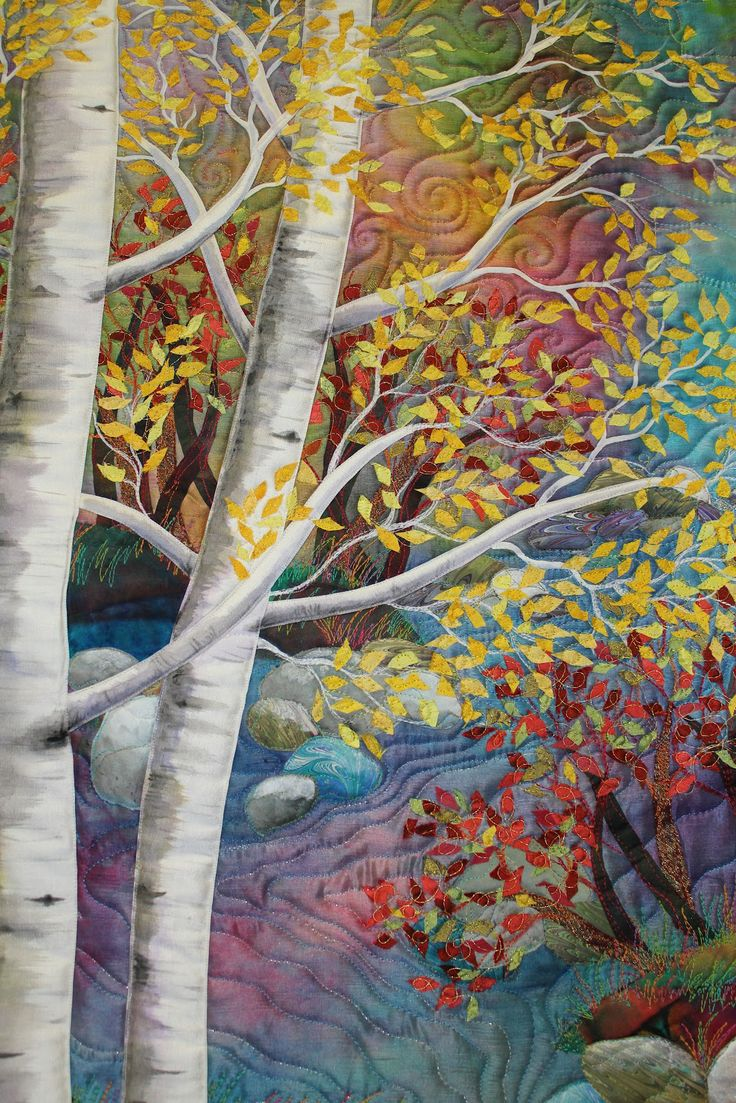 Karel Hendee tree quilt seen at Mountain Art Quilters: February 2012