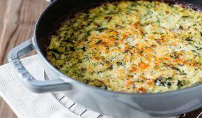 Recette de Gratin de riz et courgettes Weight watchers, un plat léger rapide à préparer pour le déjeuner ou le repas du soir.