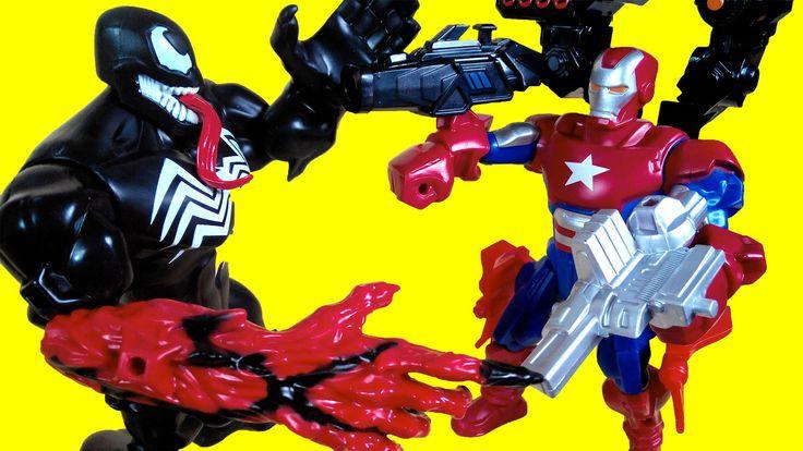 Iron Man vs venom vs Thor, Superhero mashers toys, marvel super heroes k...