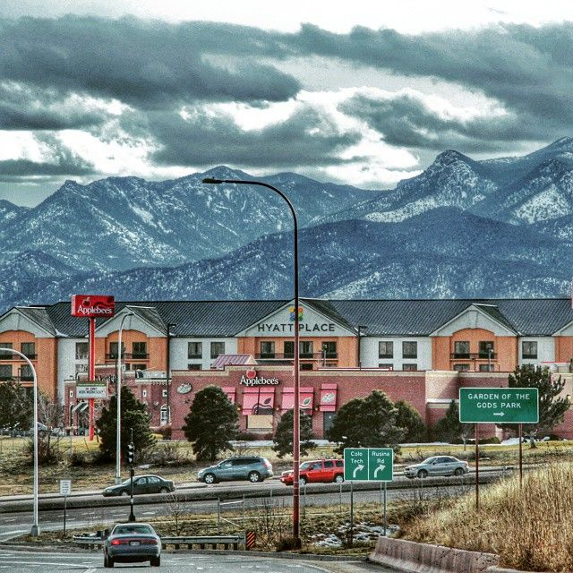 Now that's a view! Photo shot by Claude Verly. {Hyatt Place Colorado Springs/Garden of the Gods}