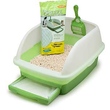 Okay, so it's a cat box. But if you love cats, and don't love litter box smell, this is the best product you will ever buy. You will not know that a cat lives in your home if you get this. Trust me.: Cat Litter, Pet, Litter Box, Boxes, Cats Breeze, Breeze Litter, Litter System