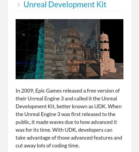 Unreal development kit - great for making 3rd person shooter games but can also be used for many other genres.  Hard for beginner programmers.