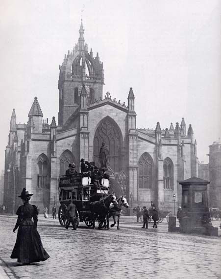 St Giles Cathedral - Edinburgh High Street - Photograph probably by JCH Balmain