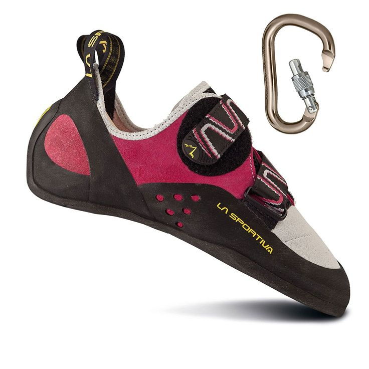 La Sportiva Women's Katana Rock Climbing Shoe 40 Pink/White w/ Locking Carabiner - -- Want to know more, click on the image.