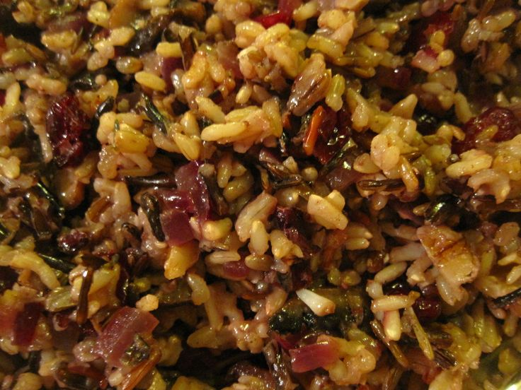 Cranberry-Walnut Wild Rice. This was very tasty; skipped the walnuts