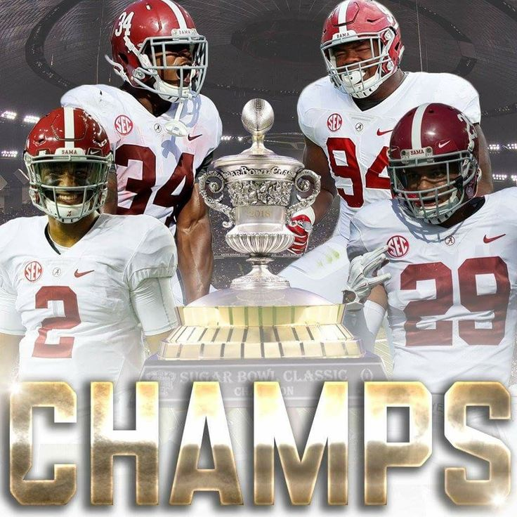 Alabama Football Champs Sugar Bowl