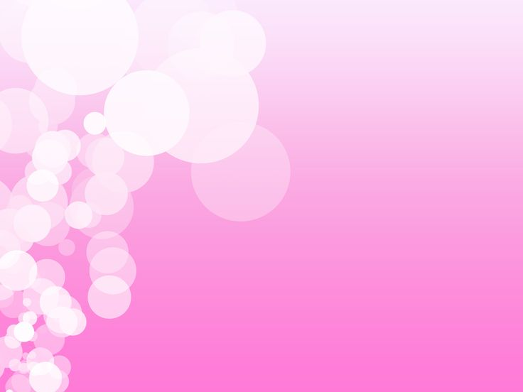 Pink Backgrounds Powerpoint Bubbles On