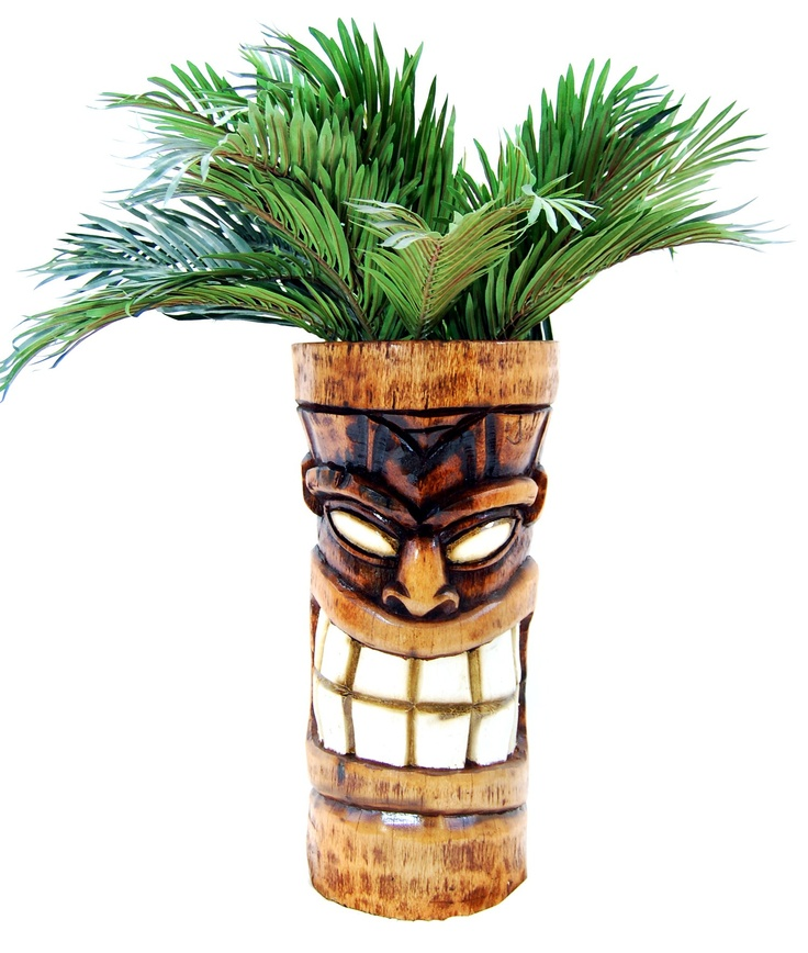 Hollow Out Logs For Me. Shave Off The Bark. And Voila. I Carve Tiki Faces  Into Them. We Sell As Planters.