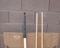Pool cues available for sale on Craigslist.