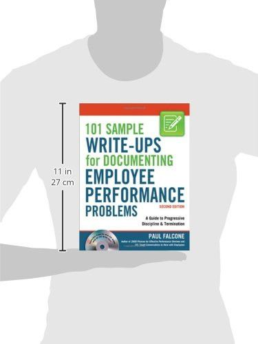 Sample Write-Ups for Documenting Employee Performance Problems A - employee termination guide