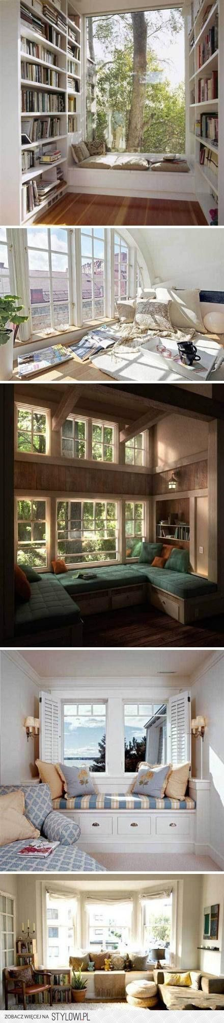 Wykusz Rulez:u003e · Window SeatsWindow BenchesArchitecture Interior  DesignApartment Interior DesignBook StuffSweet HomeSweet SweetLiving Room  ...