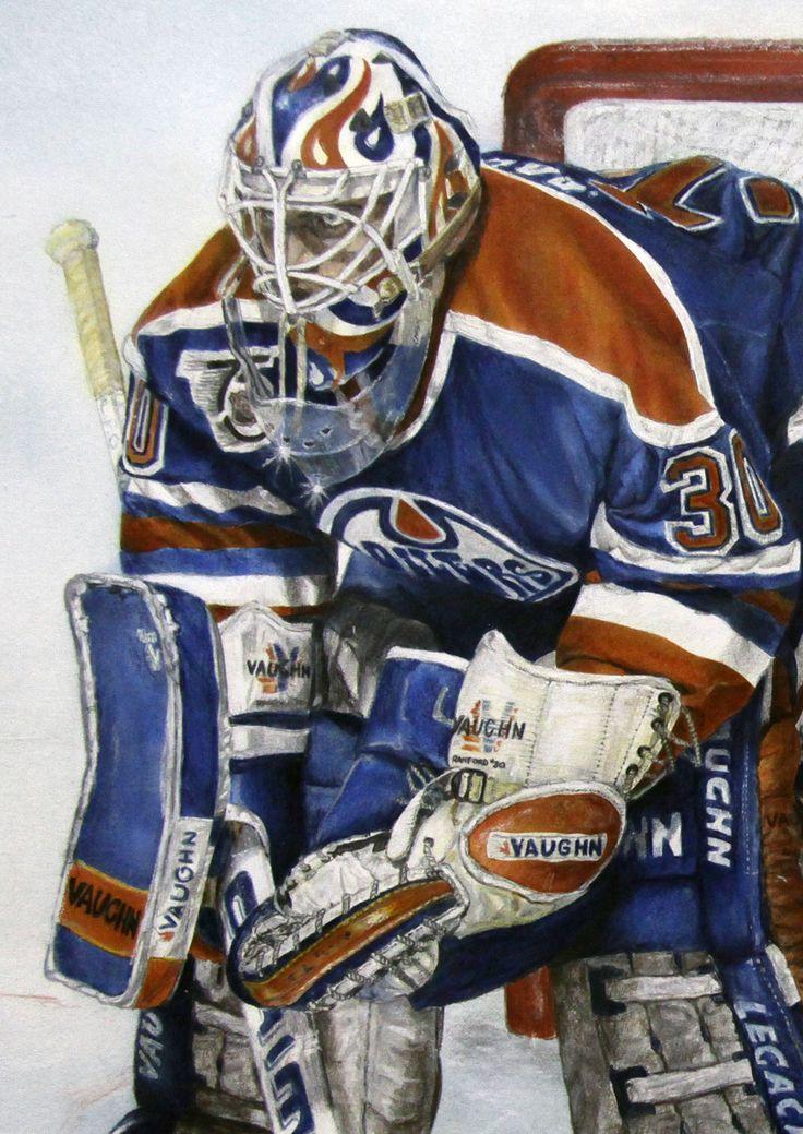 Bill Ranford, Edmonton Oilers by Joe Versikaitis.