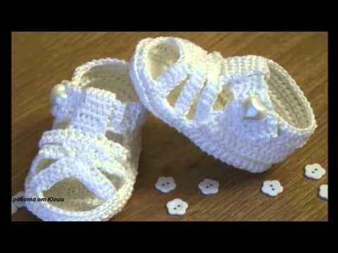Sandalias a crochet para bebé, paso a paso, TODOS LOS TALLES (parte 3) - YouTube