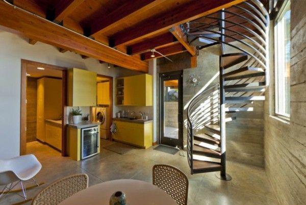 Elegant residence overlooking the Lake stairs kitchen