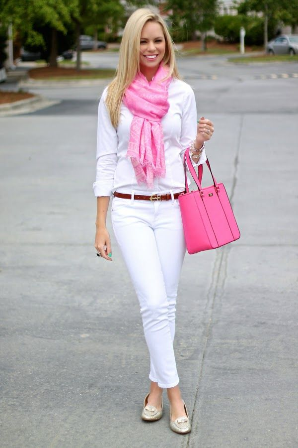 like the all white with pink accents