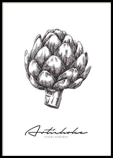 Poster with Artichoke | Kitchen Posters | Archiveseven.com