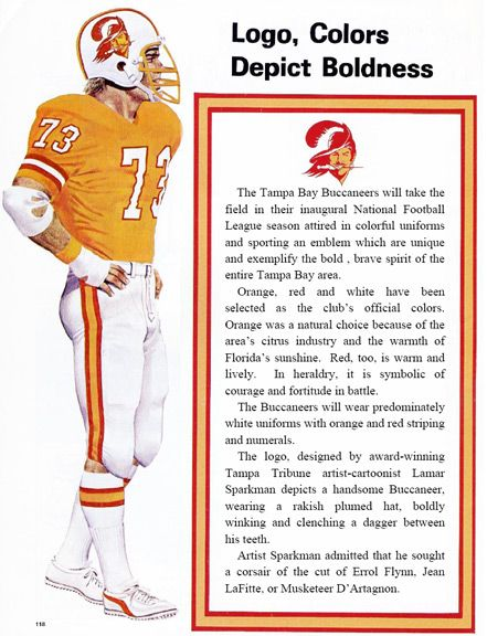 Classic. Original Tampa Bay Bucs uniform launch with creative rationale for colors