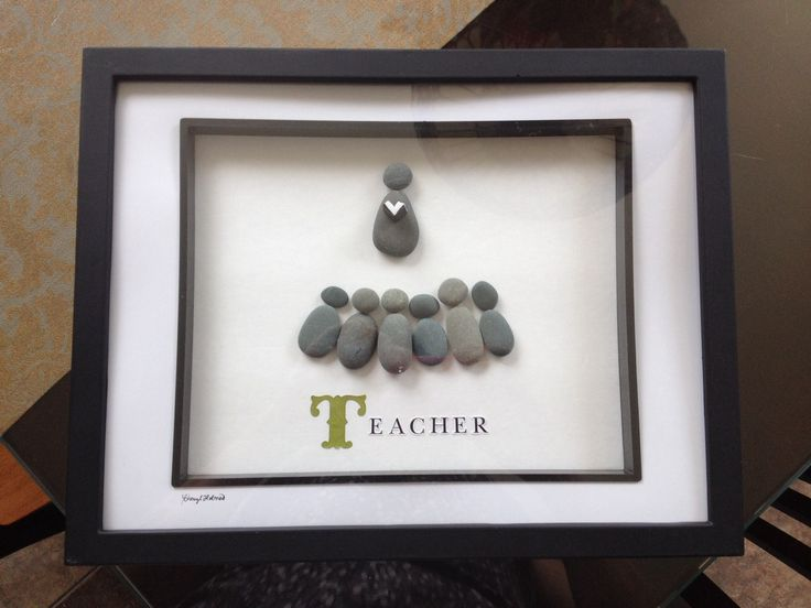 pebble art - teacher