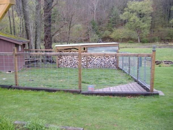 Landscape Timber Fence In 2020 Landscape Timbers Dog Fence
