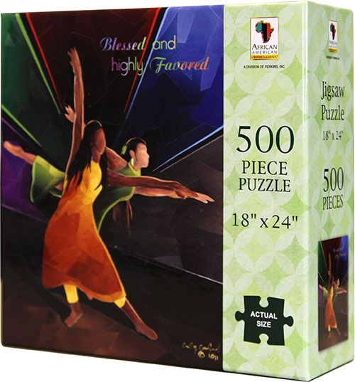 PUZ02 Blessed and Highly Favored 500-piece puzzle, by African American Expressions