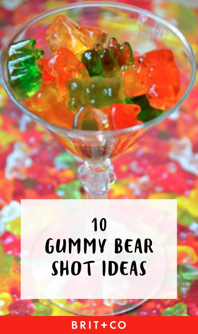 Save this for the best gummy bear shot recipes to try STAT.