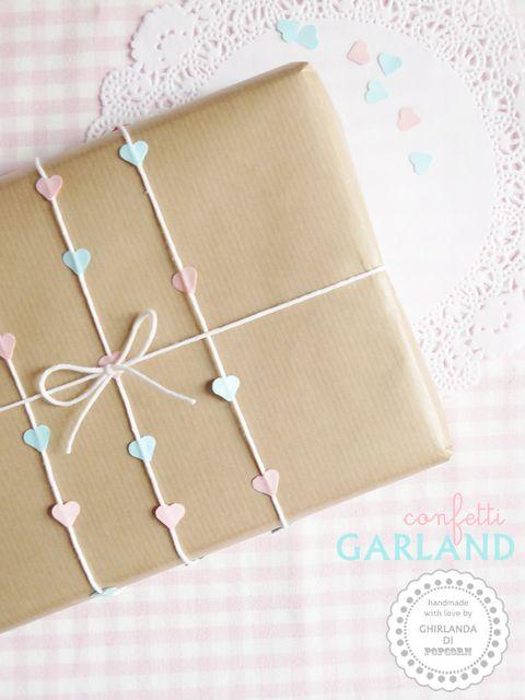 Cute heart gift wrap