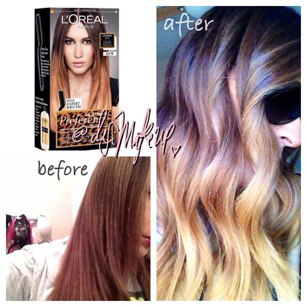 Revlon colorsilk 54 ombre dark brown hairs of ombre hair color at diy solutioingenieria Images