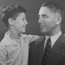 Fritz Pfeffer with his son Werner.