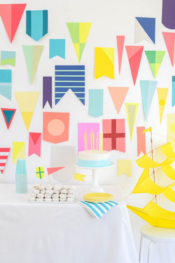 Nautical Paper Flags DIY