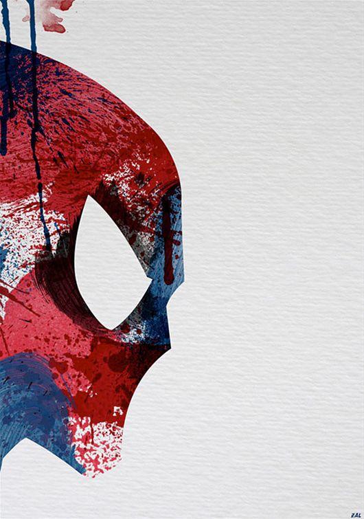 Paint Splattered Super Heroes by Arian Noveir: Painting Splatter, Arian Noveir, Super Heros, Art Prints, Spiderman, Spiders Man, Superheroes, Super Heroes, Comics