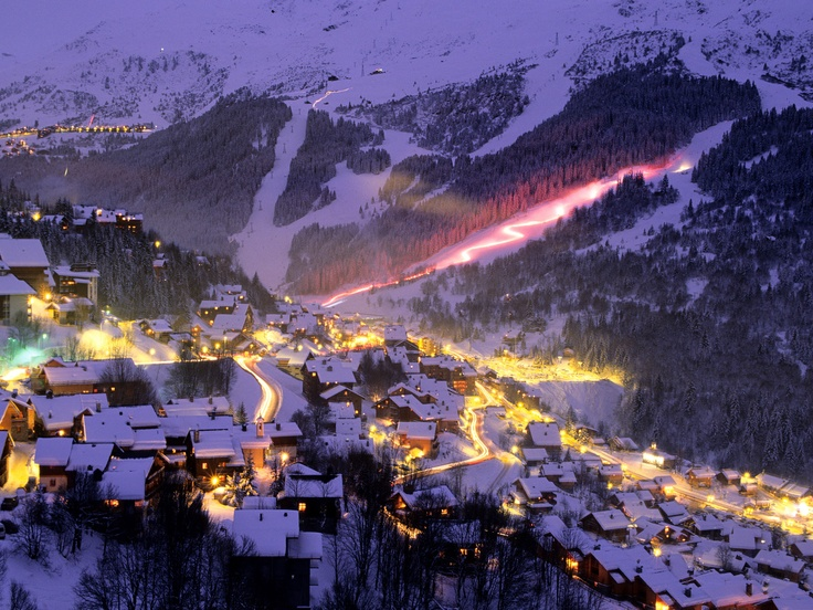 Torchlight Parade, Meribel Ski Area, France