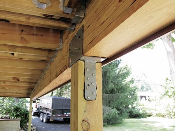 Stronger Post To Beam Connections Useful Deck Framing