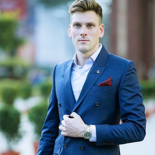 PIETER PETROS || NAVY I || A leader doesn't pray for an easy life; he prays to have the strength to endure a difficult one. #Navy1 a sharp pin-striped, double-breasted suit.